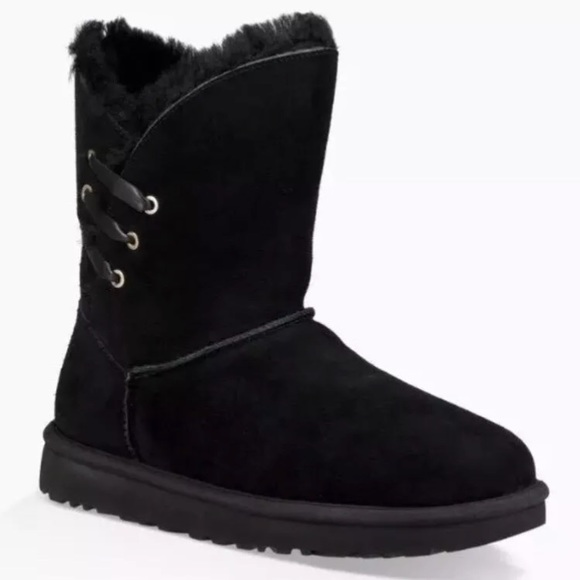 4e4123a8043 UGG CONSTANTINE Short Black Shearling Size 12
